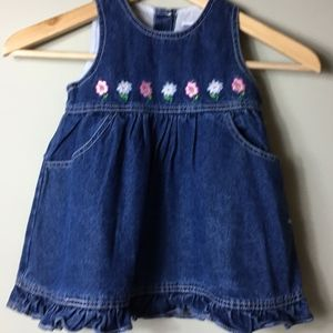 Baby Buns Girl's Cotton Jean Dress or Jumper